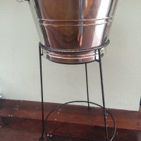 Large-Champagne-Ice-Bucket-on-Steel-Stand