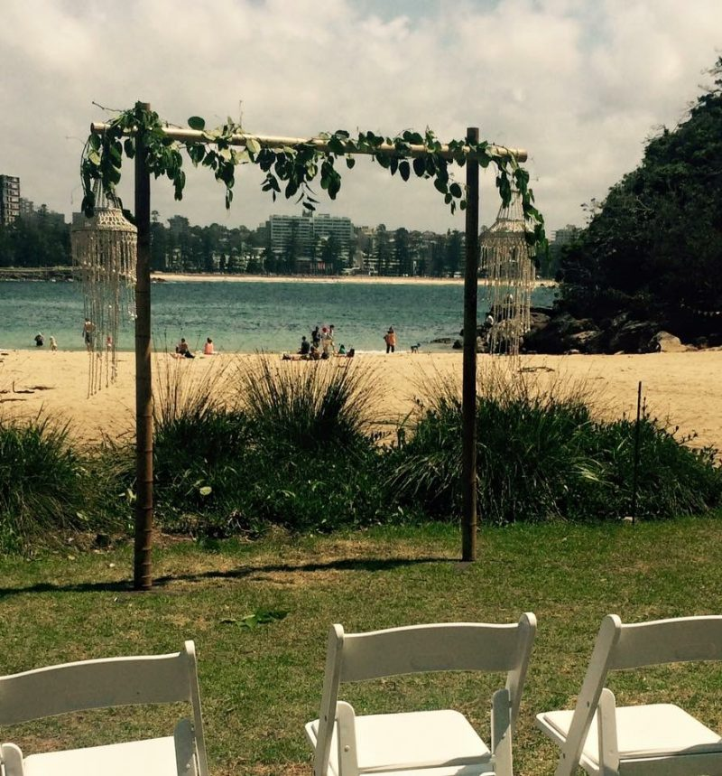 Oliver Hire Wedding Arch And Shell Chandelier