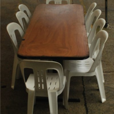 7ft Trestle Table Hire in Northern Beaches