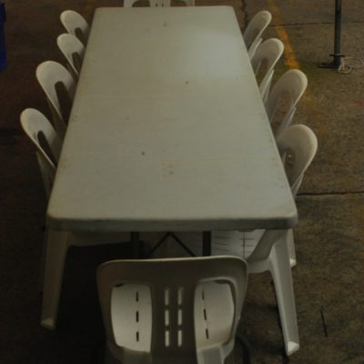 8ft Trestle Table Hire in Northern Beaches