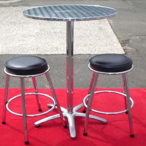 Cocktail Stool Black Cushion Hire