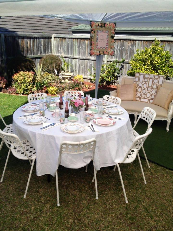 LA White Molded Café Chair Hire in Northern Beaches