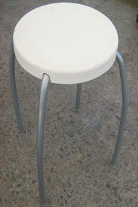 little stool white seat