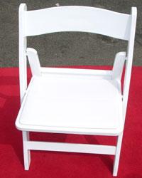 White Wedding Chair Hire