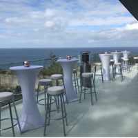 White Socks Cocktail Tables Hire
